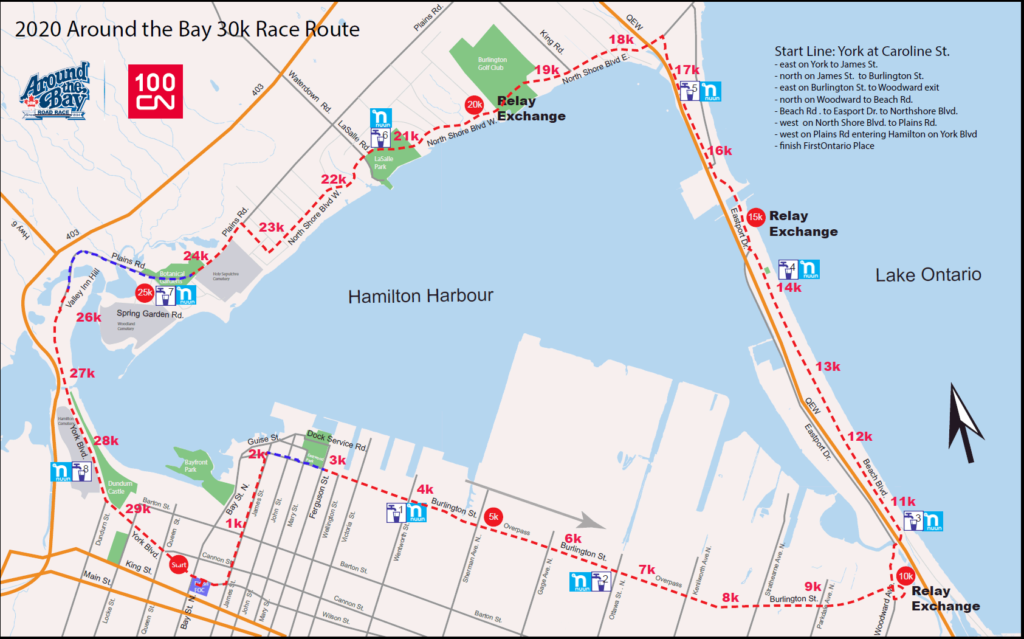 Around the Bay course map