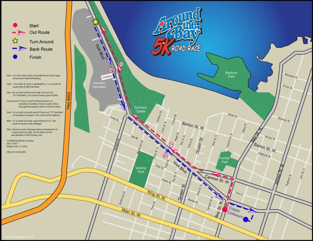 Bay Race 5k Map